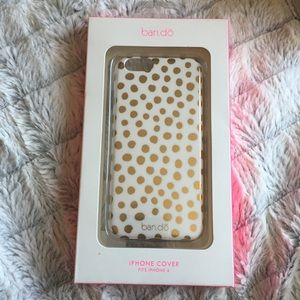 NWT ban.do gold polka dot iPhone 6 6s case